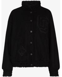 Opening Ceremony Logo Embroidered Varsity Jacket - Black