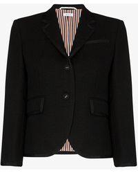 Thom Browne Single-breasted Sports Blazer - Black