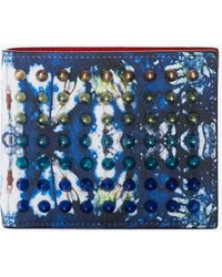 Christian Louboutin - Blue Coolcoin Leather Wallet - Lyst