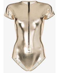 Lisa Marie Fernandez Farrah Pvc Maillot Swimsuit - Metallic