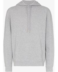 Sunspel Loopback Cotton Hoodie - Grey