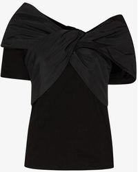 Alexander McQueen Bow Cotton T-shirt - Black