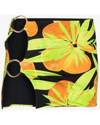 Louisa Ballou Double Ring Printed Mini Skirt - Green