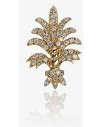 Yvonne Léon 18k Yellow Gold Bo Fleur Diamond Earring - Metallic