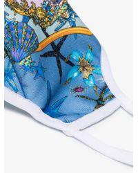 Versace Trésor De La Mer Print Face Mask - Blue