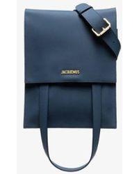 Jacquemus Blue Le Sac Murano Leather Belt Bag