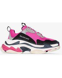 Balenciaga - Pink Triple S Trainers - Lyst