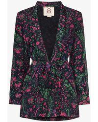 Figue Akila Floral Print Kimono Jacket - Multicolor