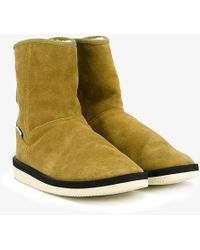 Suicoke - Suede Shearling Lined Boots - Lyst
