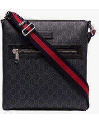Gucci GG Supreme Monogrammed Cross-body Bag - Black