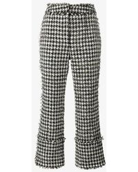 Erdem - Houndstooth Boucle Trousers - Lyst