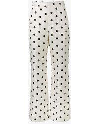 Maryam Nassir Zadeh - Polka Dot Print Wide Leg Trousers - Lyst