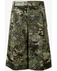Givenchy Camouflage Printed Bermuda Shorts - Green
