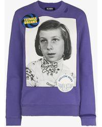 Raf Simons - Photo Print Cotton Sweatshirt - Lyst