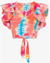 All Things Mochi - Lana Tie-dye Cropped Cotton Top - Lyst