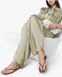 STUDIO AMELIA Square-toe Flip-flop Sandals - Purple