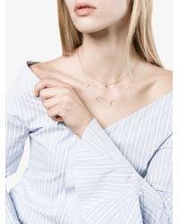 Lizzie Mandler 18k Yellow Gold Floating Triangle Diamond Necklace - - 18kt Gold/diamond - Metallic