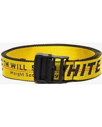 Off-White c/o Virgil Abloh - Safety Tape Logo Belt - Lyst