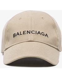 Balenciaga   Beige Logo Cap   Lyst