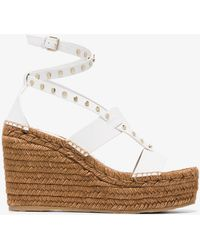 Jimmy Choo - White Danica 110 Wedge Leather Sandals - Lyst