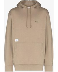 WTAPS Logo Embroidered Hoodie - Natural