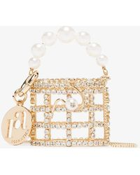 Rosantica Gold Tone Baby Holli Crystal Mini Bag - Metallic