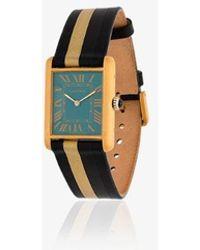 La Californienne Aurora Roxy Cartier Gold Plated Watch - Black