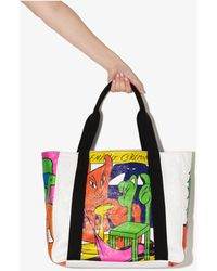 Opening Ceremony Printed Tote Bag - White