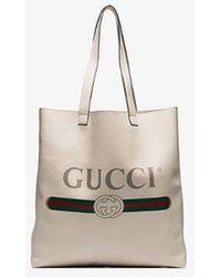 Gucci Logo-print Tote - White