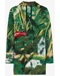 Valentino Green Embroidered Dragon Hoodie