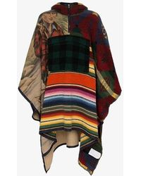 Polo Ralph Lauren Patchwork Hooded Poncho - Blue
