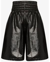 Bottega Veneta Black Long Leather Boxer Shorts