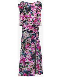 Ronald Van Der Kemp - Floral Print Gown - Lyst