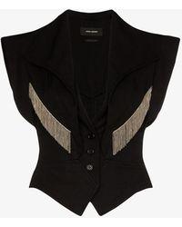 Isabel Marant Udalia Chain Trim Waistcoat - Black