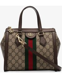 Gucci - Brown Ophidia Small GG Tote Bag - Lyst
