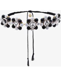 Venessa Arizaga Multi Charm Necklace - Black