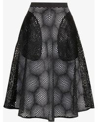 Paskal - High Waisted Mesh Midi Skirt - Lyst