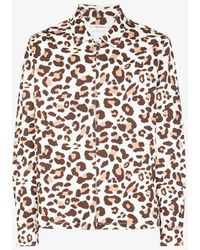 Reception Club Leopard Print Shirt Jacket - Multicolor