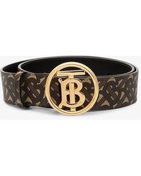 Burberry Monogram Motif Buckle Belt - Brown