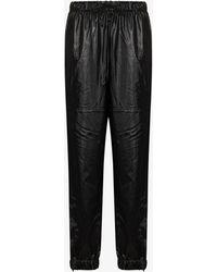 Rains High Shine Tapered Pants - Black
