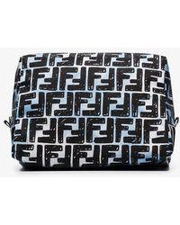 Fendi Black And White Ff Makeup Bag