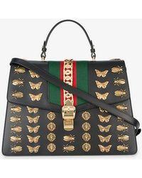 Gucci - Sylvie Animal Studs Bag - Lyst