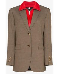 Burberry - Track Top Detail Wool Cotton Tailored Jacket - Lyst