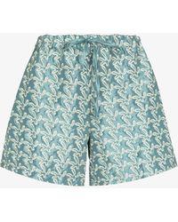 Kika Vargas Ela Structured Drawstring Shorts - Blue