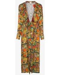 Chufy Riad Printed Reversible Maxi-robe - Multicolor