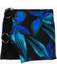 Louisa Ballou Double Ring Printed Mini Skirt - Black