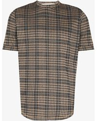 PREVU Kingsdale Prince Of Wales Check T-shirt - Grey