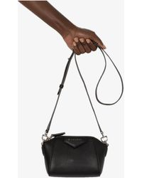 Givenchy Antigona Nano Leather Cross Body Bag - Black