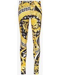 Versace - Baroque Printed leggings - Lyst