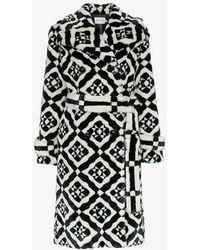 Mary Katrantzou - Stokes Faux Fur Tile Print Coat - Lyst